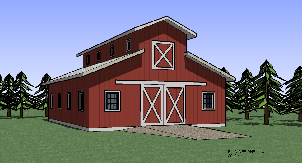 Monitor barn designs joy studio design gallery best design for Barn style garage plans for free