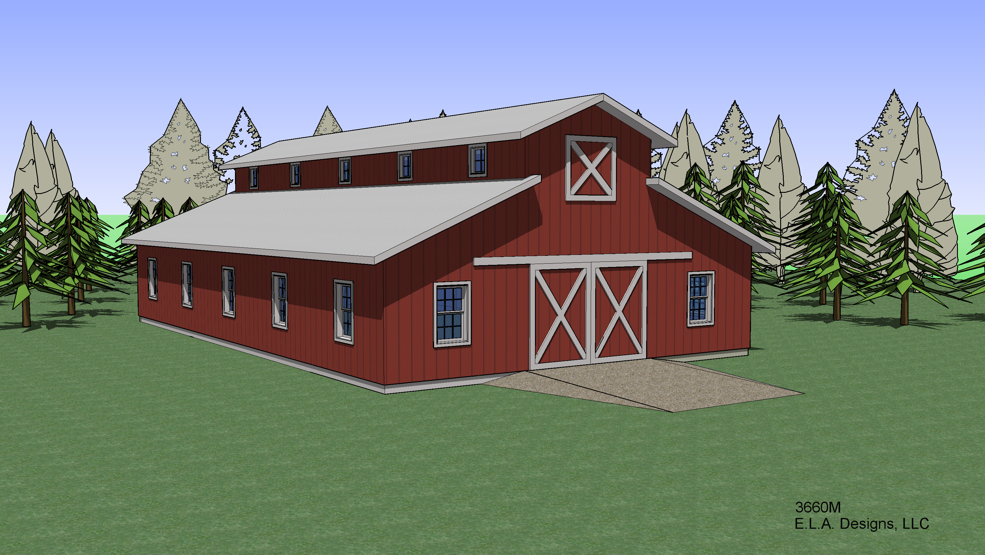 Barn plan 3660m for Barn plans